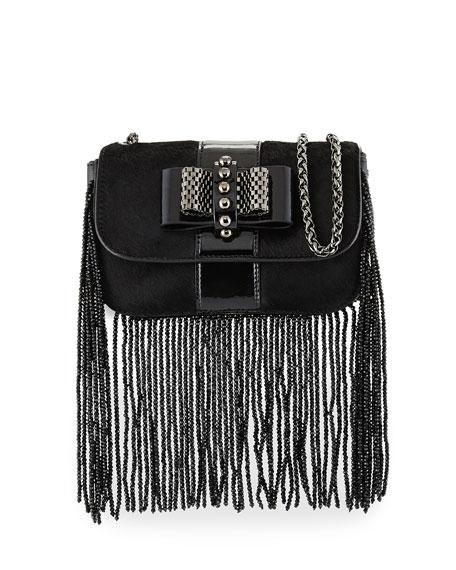 Christian LouboutinSweet Charity Fringe Mini Crossbody Bag, Black