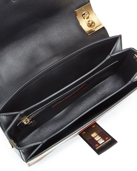 Valentino Garavani B-Rockstud Striped Shoulder Bag