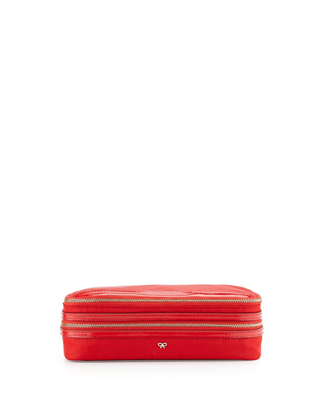 Anya Hindmarch Nylon Makeup Case, Red