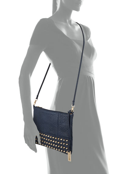Eve Studded Crossbody Bag, Navy