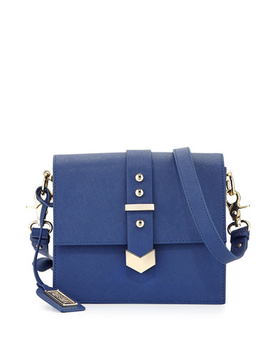 Jane Leather Crossbody Bag, Sapphire