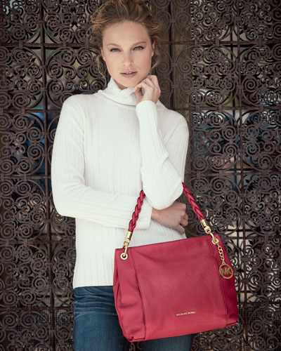 Inexpensive Michael Kors Naomi Satchels - Michael Michael Kors Naomi Large Twist Strap Tote Bag Chili Prod179350822 P.prod