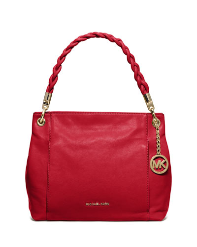 Naomi Large Twist-Strap Tote Bag, Chili