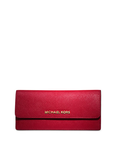 Jet Set Travel Flat Wallet, Chili