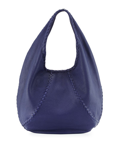 Cervo Medium Open-Shoulder Hobo Bag, Royal Blue