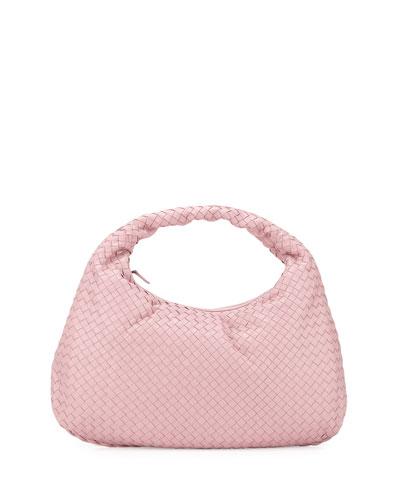Veneta Intrecciato Large Hobo Bag, Light Pink