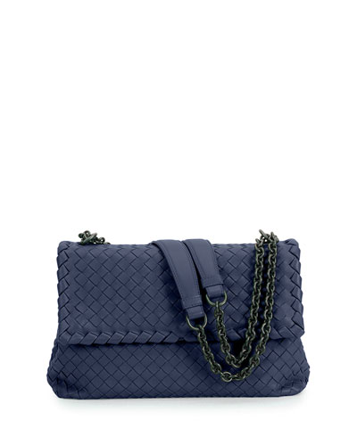 Olimpia Medium Shoulder Bag, Royal Blue