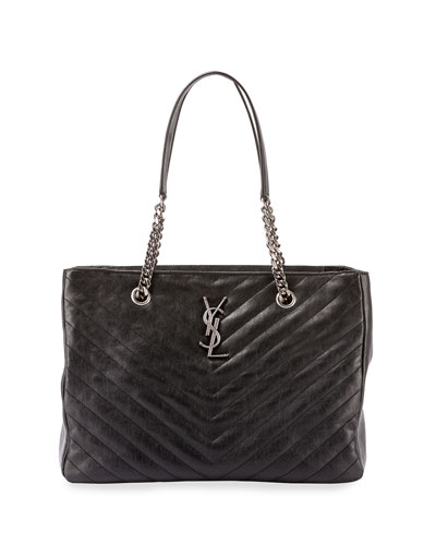 Monogramme Boyfriend Chain-Strap Tote Bag, Black