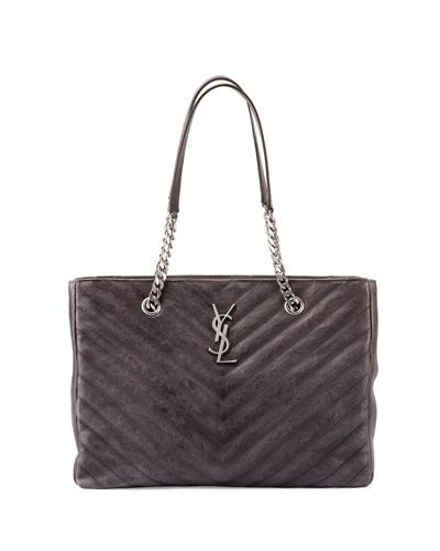 Monogramme Boyfriend Chain-Strap Tote Bag, Dark Gray