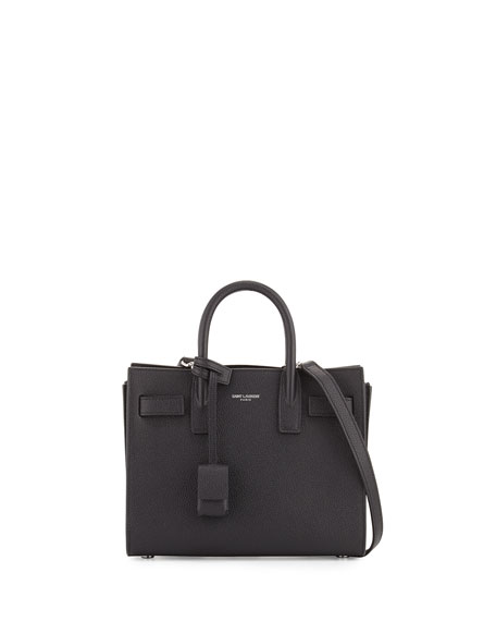 Saint Laurent Sac de Jour Leather Nano Carryall