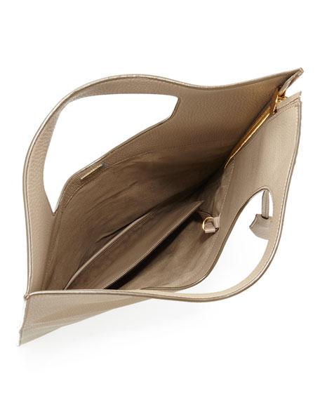 90419ddae TOM FORD Alix Small Calfskin Hobo Bag, Warm Taupe