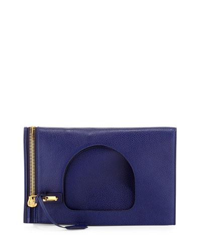 Alix Small Calfskin Hobo Bag, Cobalt Blue