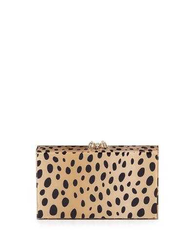 Pandora Cheetah-Print Box Clutch Bag
