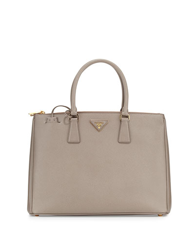 Saffiano Lux Executive Tote Bag, Gray (Argilla)