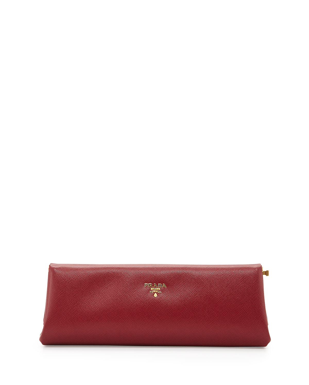 Prada Saffiano East-West Frame Clutch Bag 207e334308a76