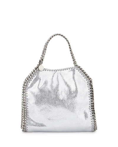 Falabella Mini Tote Bag, Silver