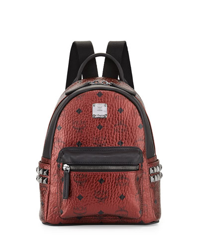 Stark Mini Canvas Backpack, Metallic Scooter
