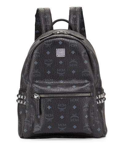 Stark Small Canvas Backpack, Black