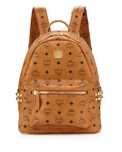 Stark Small Canvas Backpack, Cognac