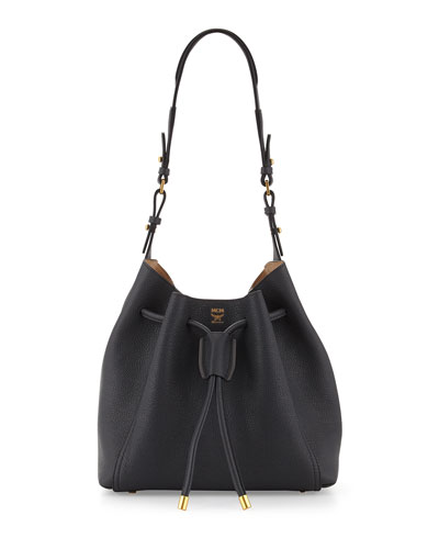 Milla Drawstring Bucket Bag, Phantom Gray