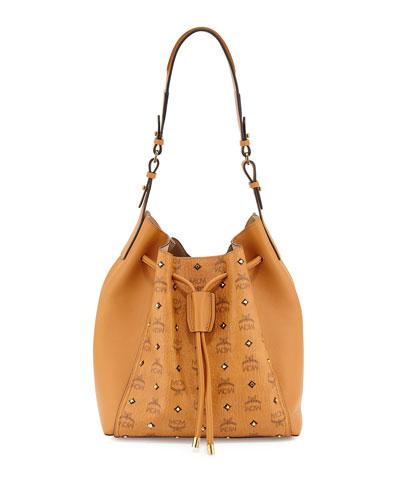 Visetos Drawstring Bag, Gold
