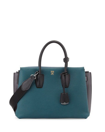 Milla Colorblock Tote Bag, Vega Green