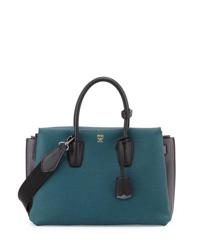 Milla Colorblock Tote Bag, Vega Green