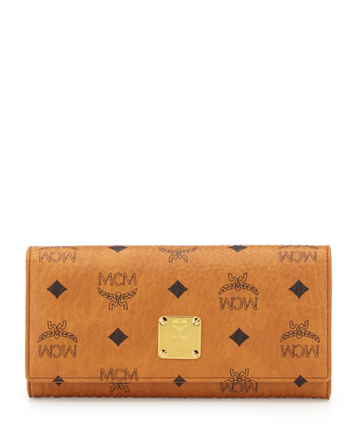 Heritage Line Large Tri-Fold Wallet, Cognac