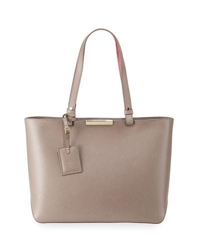 Le Foulonne City Medium Tote Bag, Pebble
