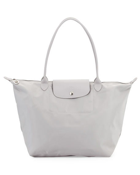 Le Pliage Neo Large Shoulder Tote Bag, Pebble