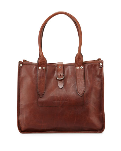 Amy Leather Shopper Tote Bag, Cognac