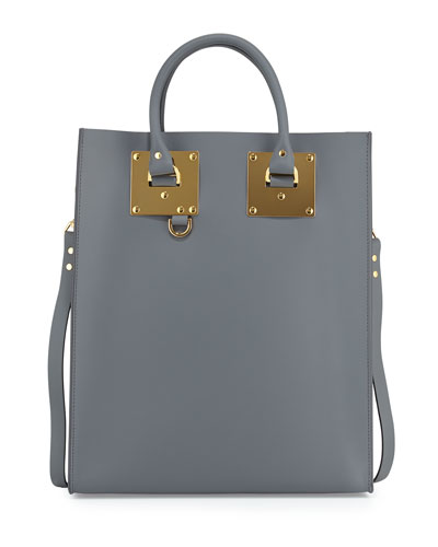 Albion Leather Tote Bag, Charcoal