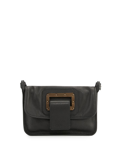 Granada Leather Shoulder Bag, Black
