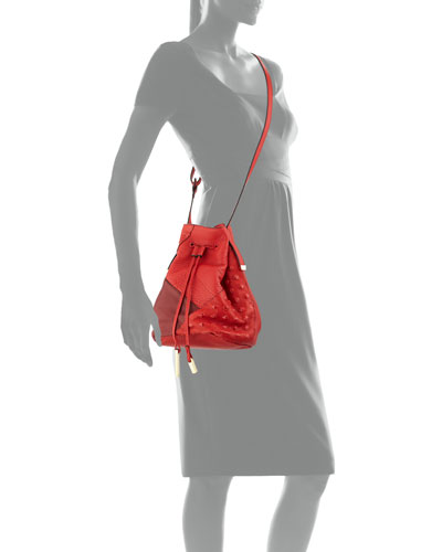 Colorblock Bucket Bag, Chili