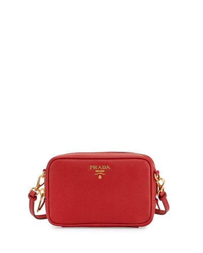 Saffiano Camera Bag, Red (Rosso)