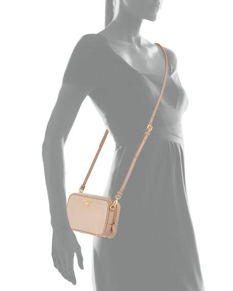 Saffiano Camera Bag, Blush (Cammeo)