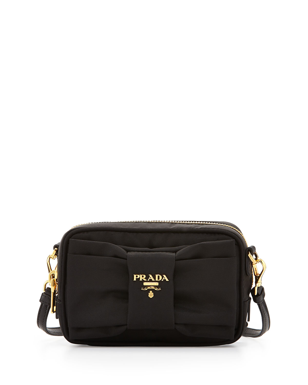 f00fe1d819d6 Prada Nylon Bow Camera Bag, Black (Nero) | Neiman Marcus