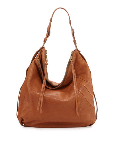 Alina Leather Hobo Bag, Luggage