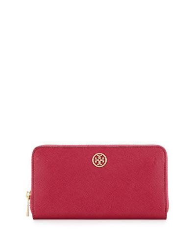 Robinson Continental Zip Wallet, Raspberry