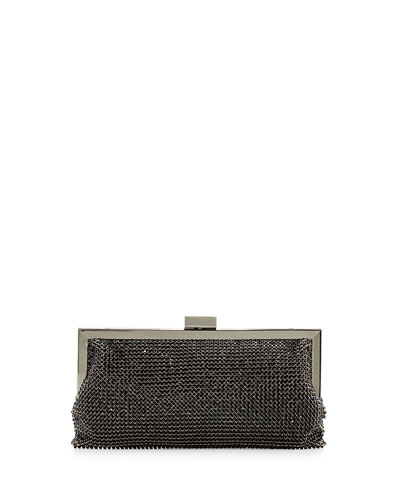 Saffron Crystal Evening Clutch Bag, Jet
