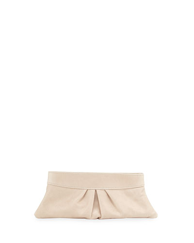 Eve Leather Clutch Bag, Nude