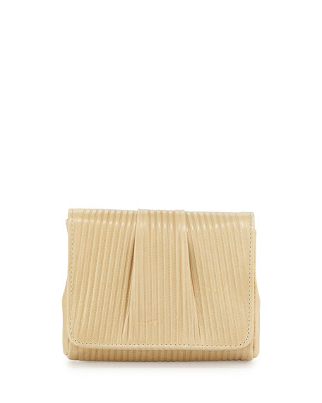 Lauren Merkin Mini Caroline Embossed Clutch Bag, Tan