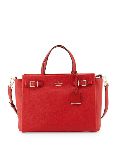 holden street lanie satchel bag, cherry tomato