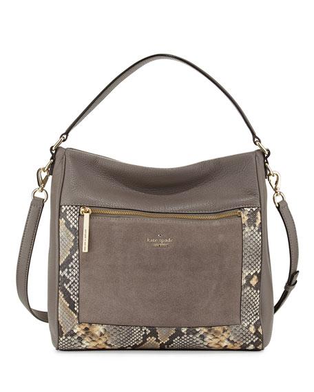 chatham lane harris shoulder bag, stone gray