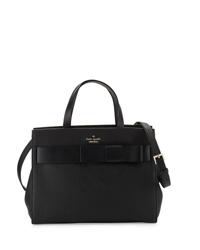 poplar street shelley satchel bag, black