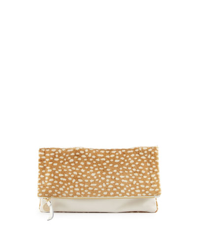 Supreme Calf Hair Fold-Over Clutch Bag