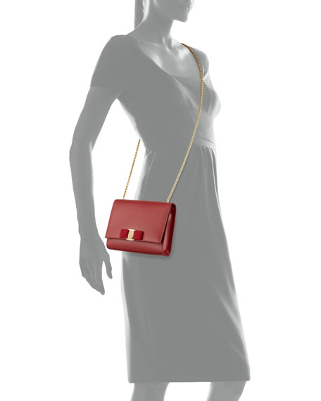 Miss Vara Bow Clip Crossbody Bag, Rosso