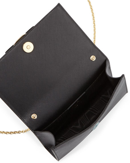 Miss Vara Bow Clip Crossbody Bag, Nero (Black)