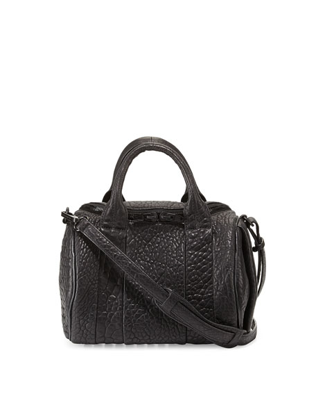 Alexander Wang Rockie Soft Pebbled Leather Satchel Bag,