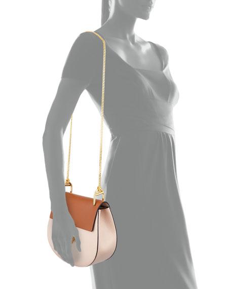 Chloe Drew Mini Colorblock Shoulder Bag, Beige/Caramel